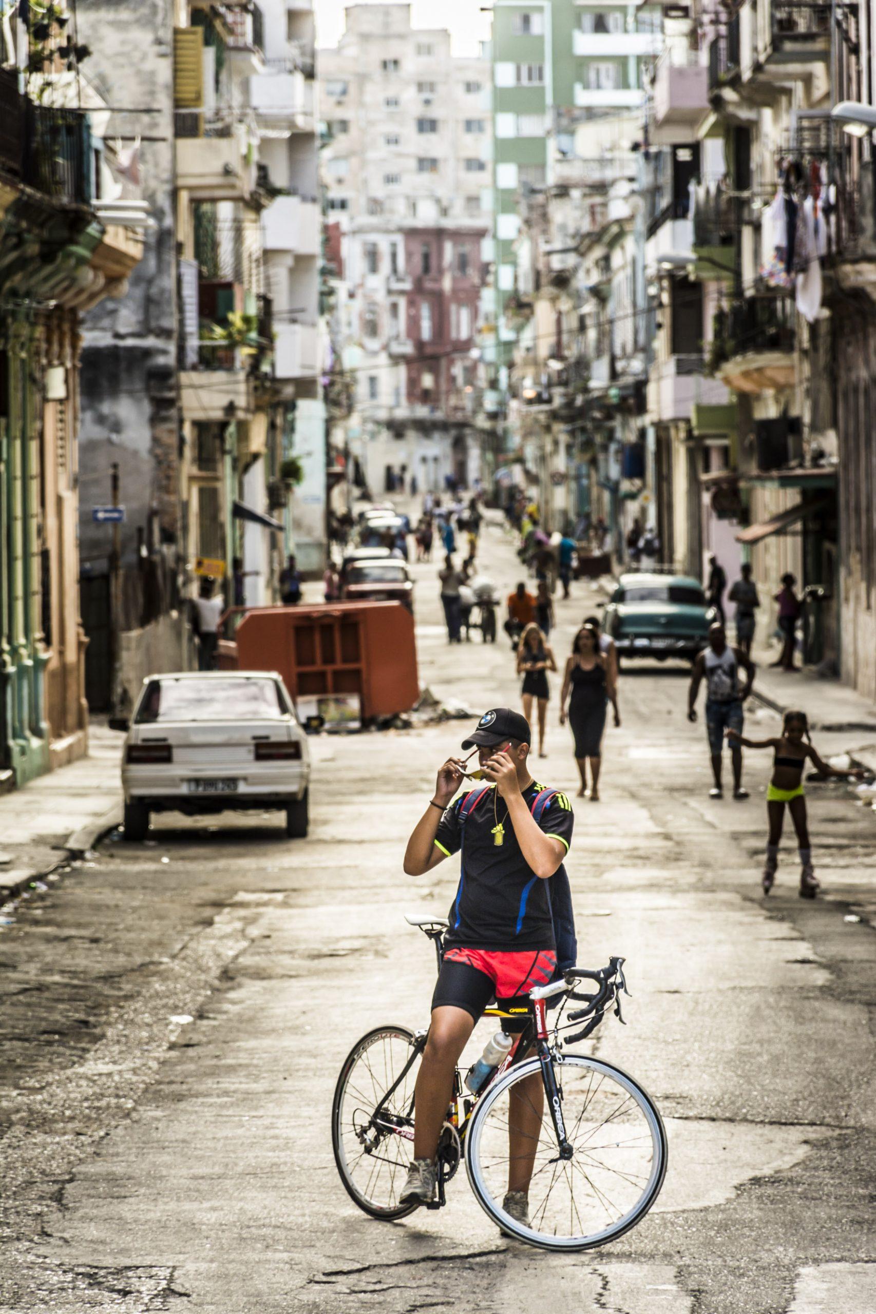 Le cycliste de la Havane
